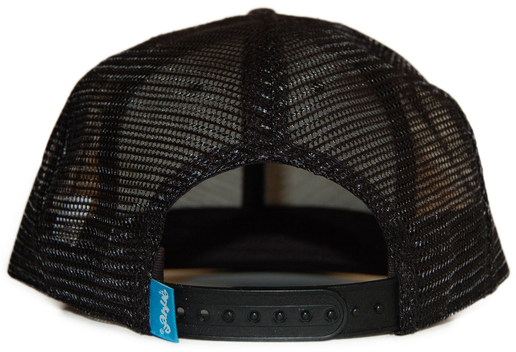 <!--020120207041233-->Entree - 'Teddy Trucker Mesh' [(Black) Snap Back Hat]