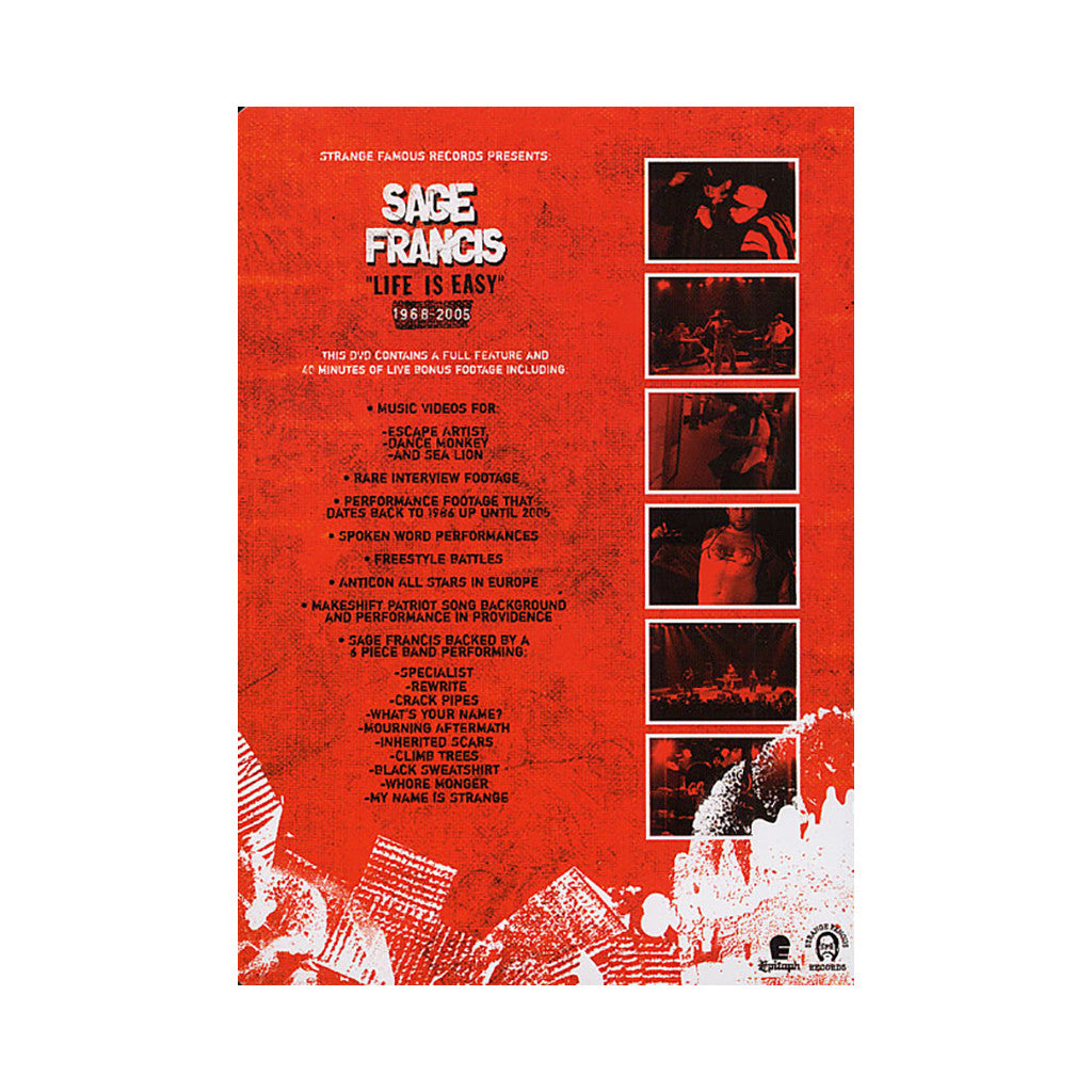 <!--120051101005977-->Sage Francis - 'Life Is Easy' [DVD]