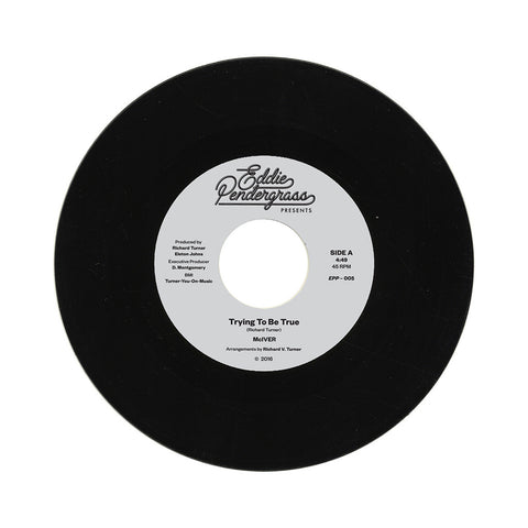 "[""McIVER - 'Trying To Be True/ Looking In The Eyes Of Love' [(Black) 7\"" Vinyl Single]""]"