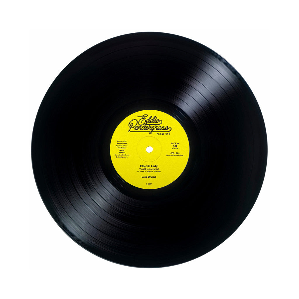 "Love Cryme - 'Electric Lady/ Under The N Fluence' [(Black) 12"" Vinyl Single]"