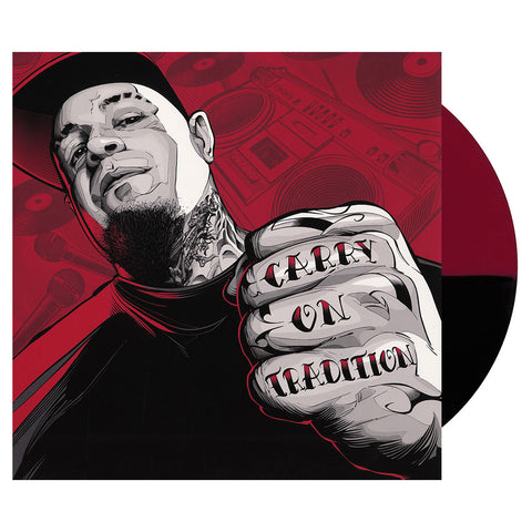 "[""Vinnie Paz - 'Carry On Tradition' [(Red + Black Split) Vinyl EP]""]"