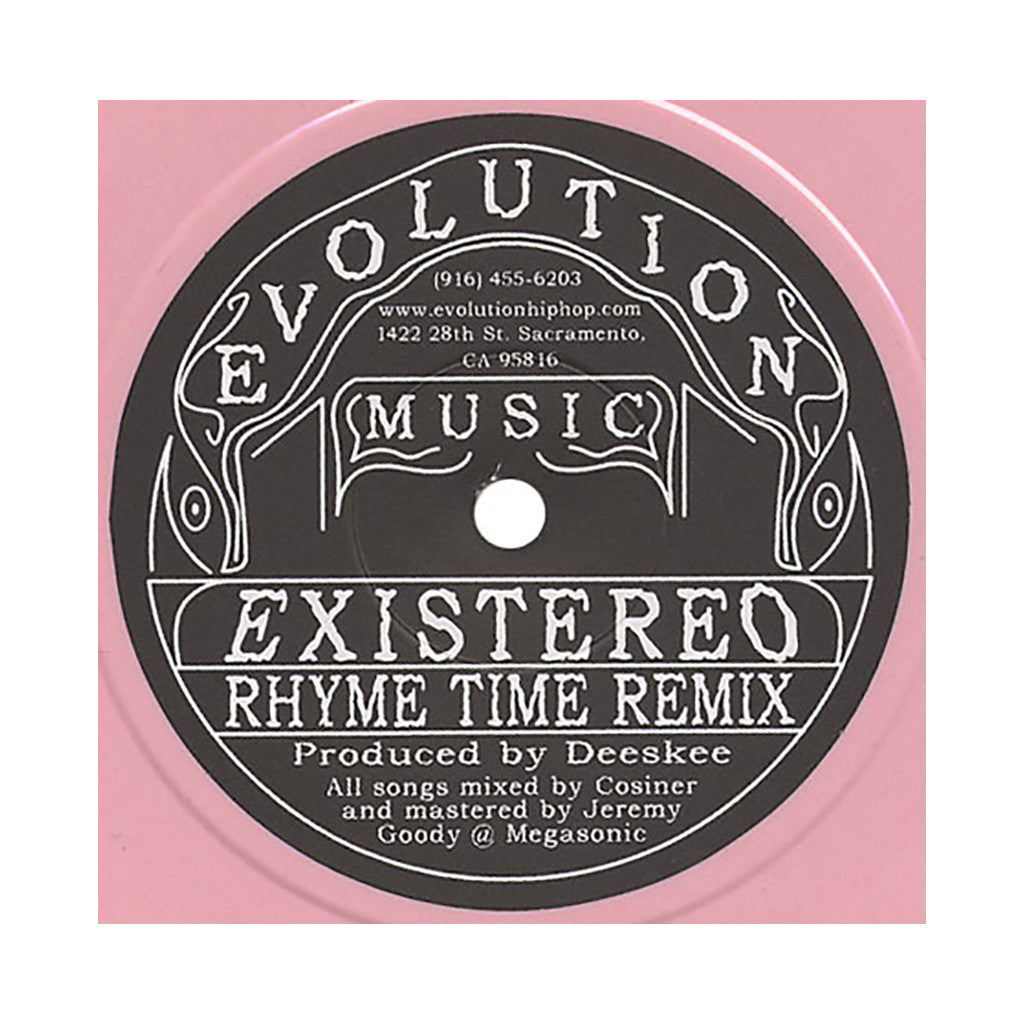 "<!--020040706003505-->Existereo - 'Rhyme Time/ Rhyme Time (Remix)' [(Pink) 7"""" Vinyl Single]"