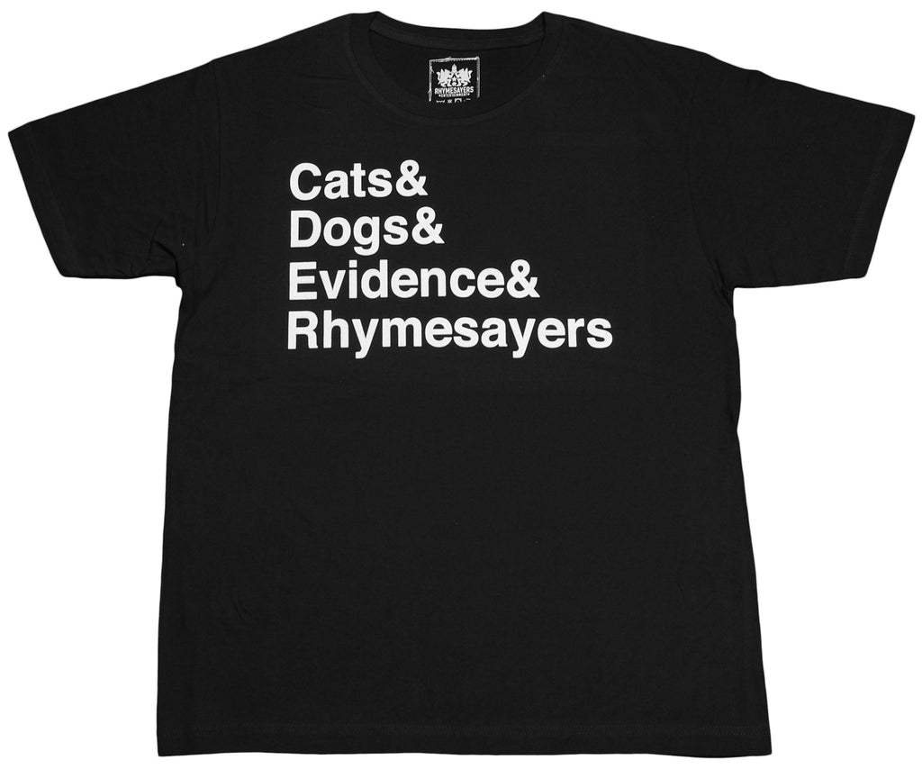 <!--2012022100-->Evidence - 'Cats & Dogs' [(Black) T-Shirt]