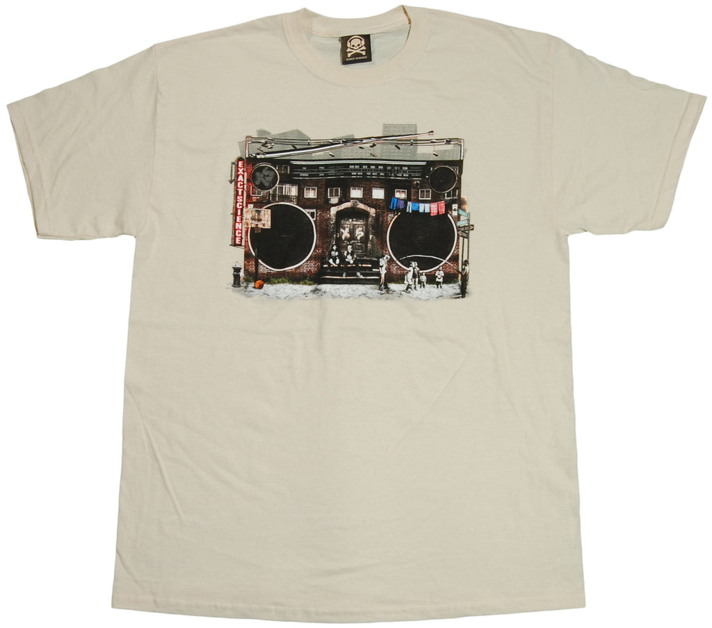 <!--2011070523-->Exact Science - 'Hood Music' [(Natural) T-Shirt]