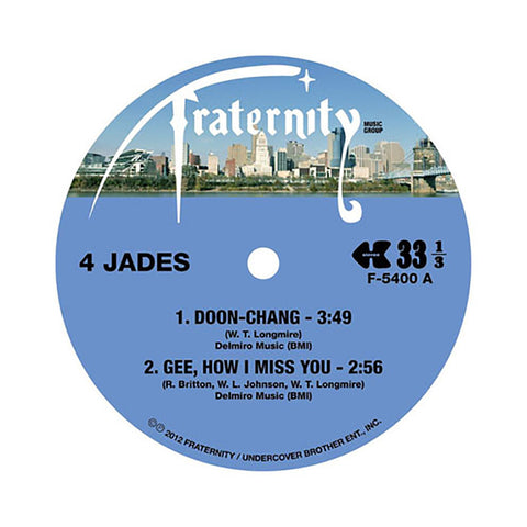 "[""4 Jades b/w Longmire - 'Doon-Chang/ Gee, How I Miss You b/w Make You Wanna Holler/ Everybody's Somebody's Fool' [(Black) 10\"" Vinyl Single]""]"