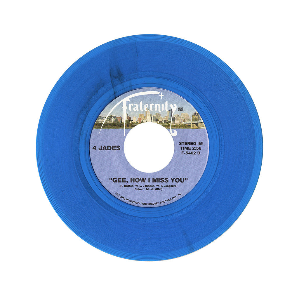 "4 Jades - 'Doon-Chang/ Gee, How I Miss You' [(Clear Blue) 7"" Vinyl Single]"