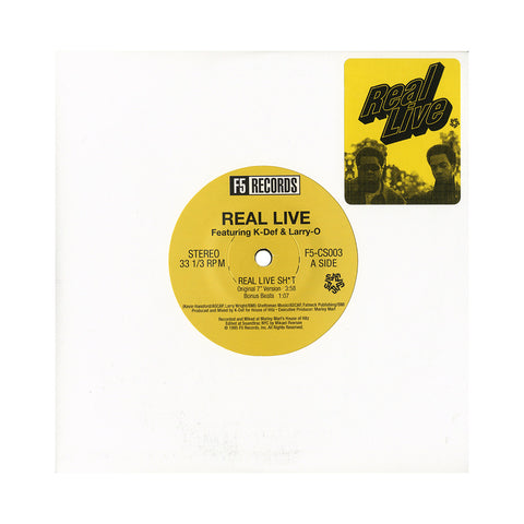 "[""Real Live - 'Real Live Shit/ Pop The Trunk/ Crime Is Money' [(Black) 7\"" Vinyl Single]""]"