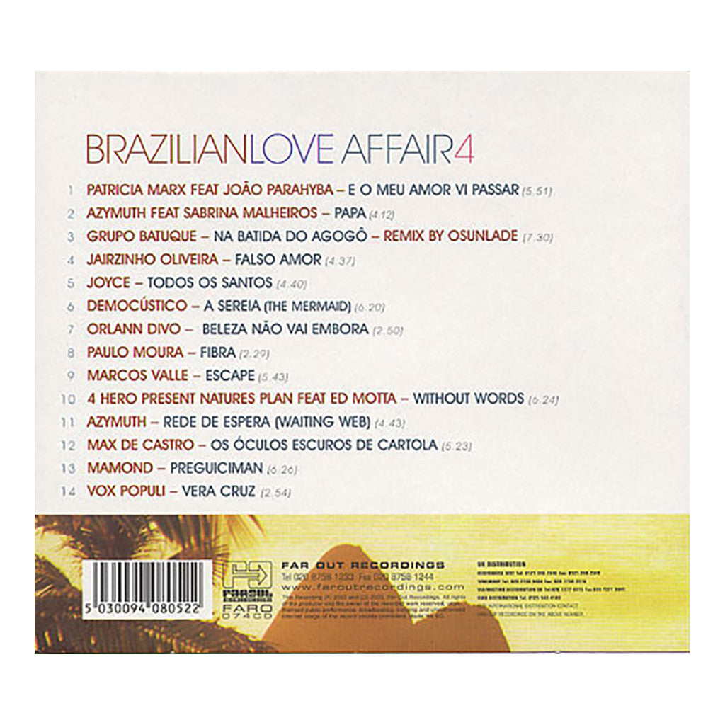 <!--020030401014377-->Various Artists - 'Brazillian Love Affair 4: The Essence Of Brazilian Chill Out' [CD]