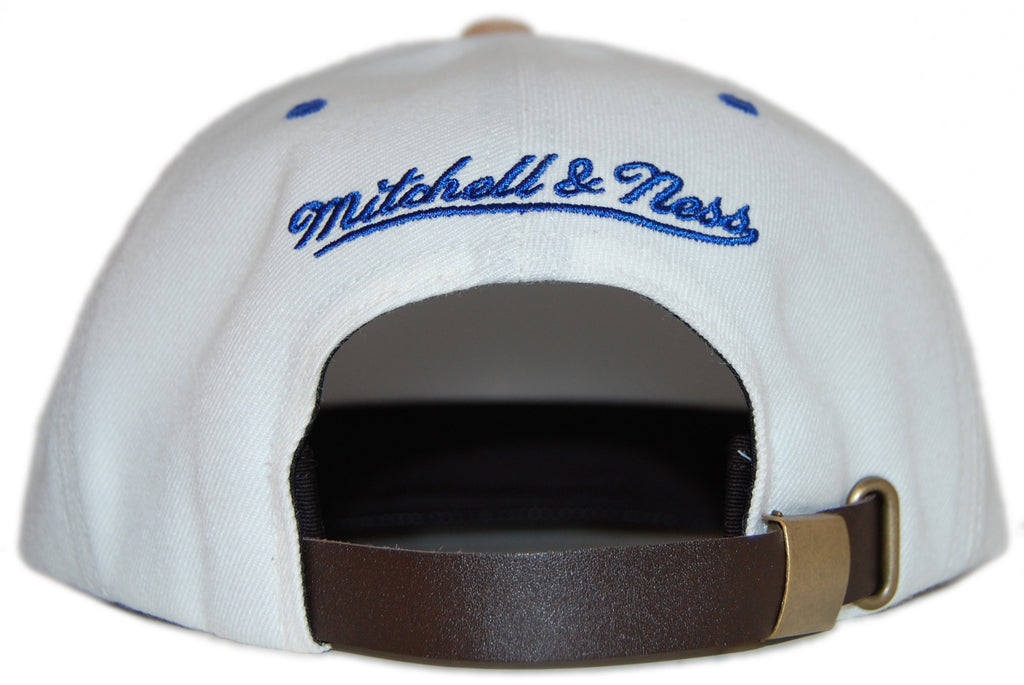 <!--020120529045697-->Mitchell & Ness x NBA - 'Golden State Warriors: NBA Cream Cord Visor Pinch Panel' [(Natural) Strap Back Hat]