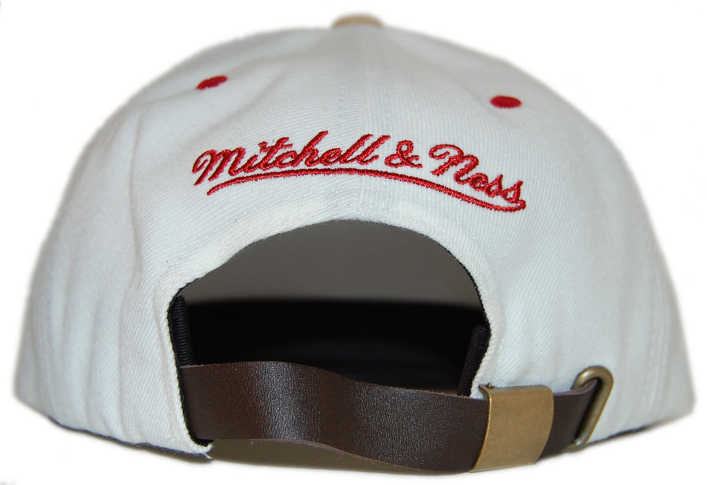 <!--020120529045671-->Mitchell & Ness x NHL - 'Phoenix Coyotes: NHL Cream Cord Visor Pinch Panel' [(Natural) Strap Back Hat]