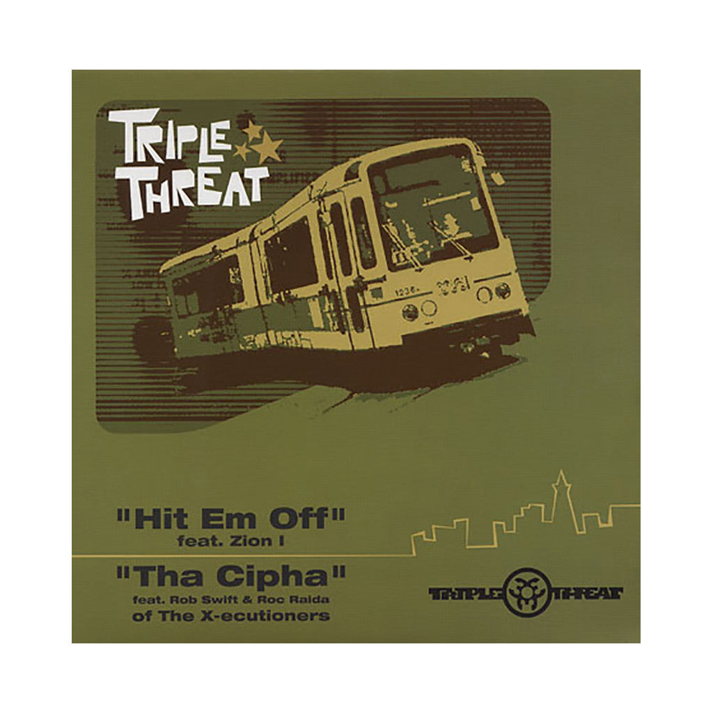 "<!--020030225011444-->Triple Threat - 'Hit Em Off/ Tha Cipha/ Hit Em Off (Remix)' [(Black) 12"" Vinyl Single]"