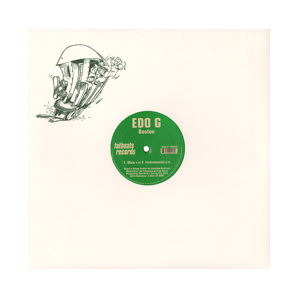 "EDO.G & Pete Rock - 'Boston/ Stop Dat' [(Black) 12"" Vinyl Single]"