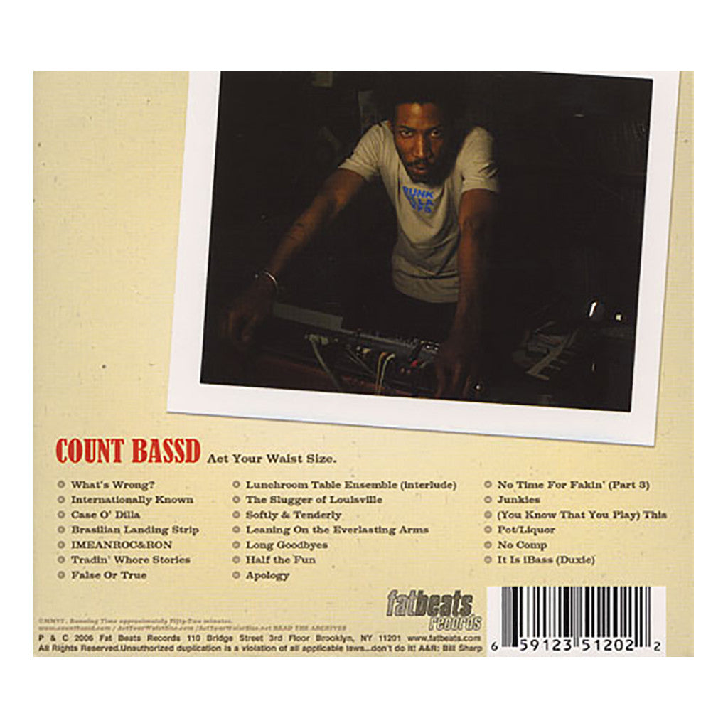 Count Bass D - 'Act Your Waist Size' [CD]