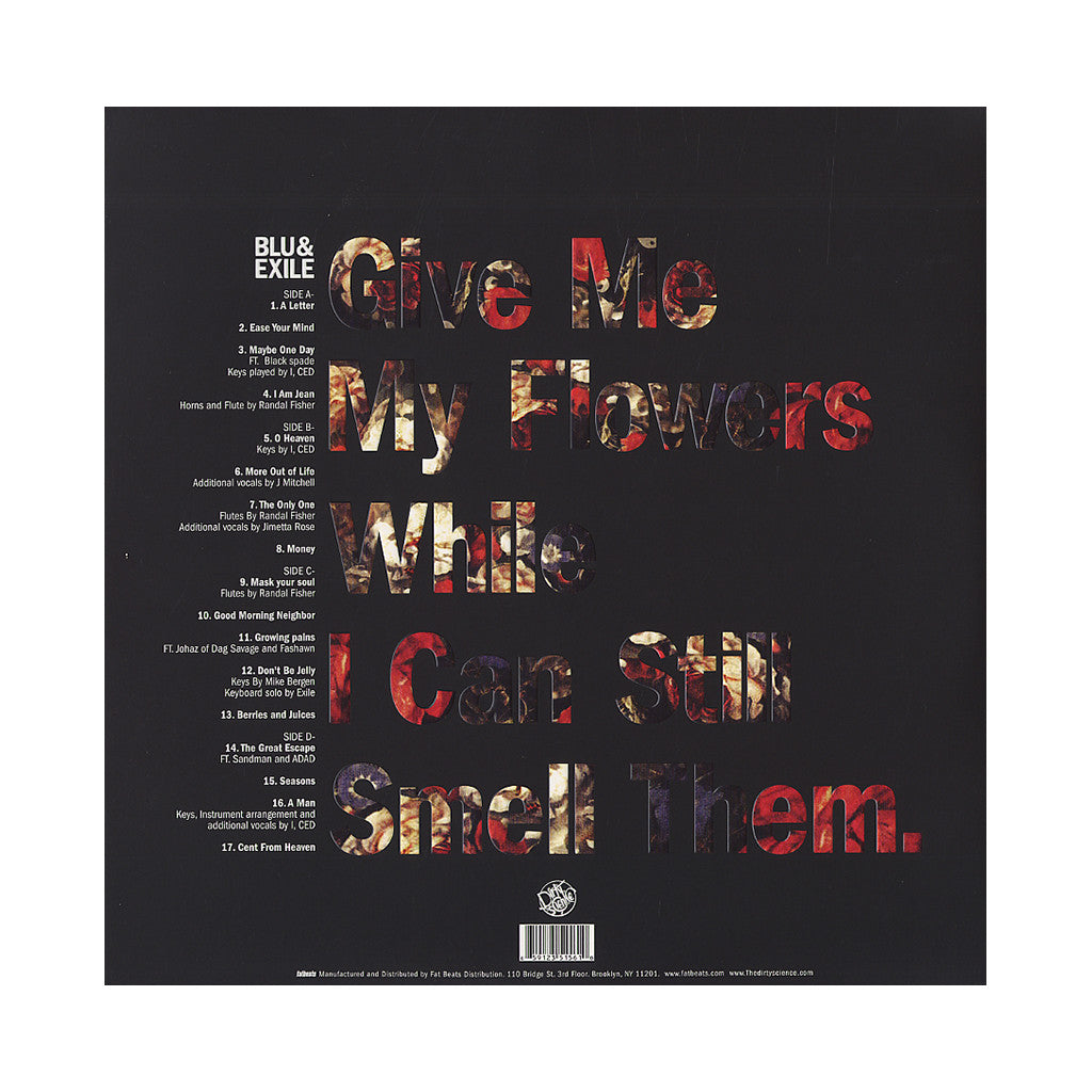 <!--120120904046352-->Blu & Exile - 'Give Me My Flowers While I Can Still Smell Them' [(Red) Vinyl [2LP]]