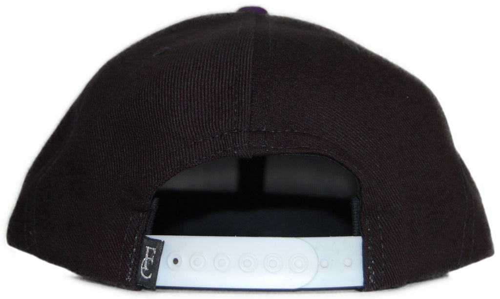 <!--020111101037873-->Flying Coffin - 'Big Logo 2 - Black & Purple' [(Black) Snap Back Hat]