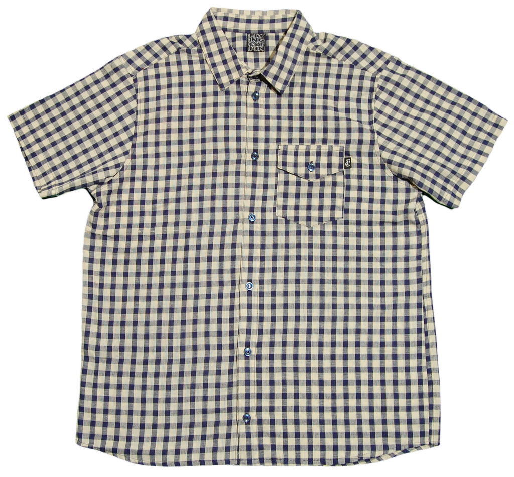 <!--2012072454-->Flying Coffin - 'Impaler' [(Blue) Button Down Shirt]