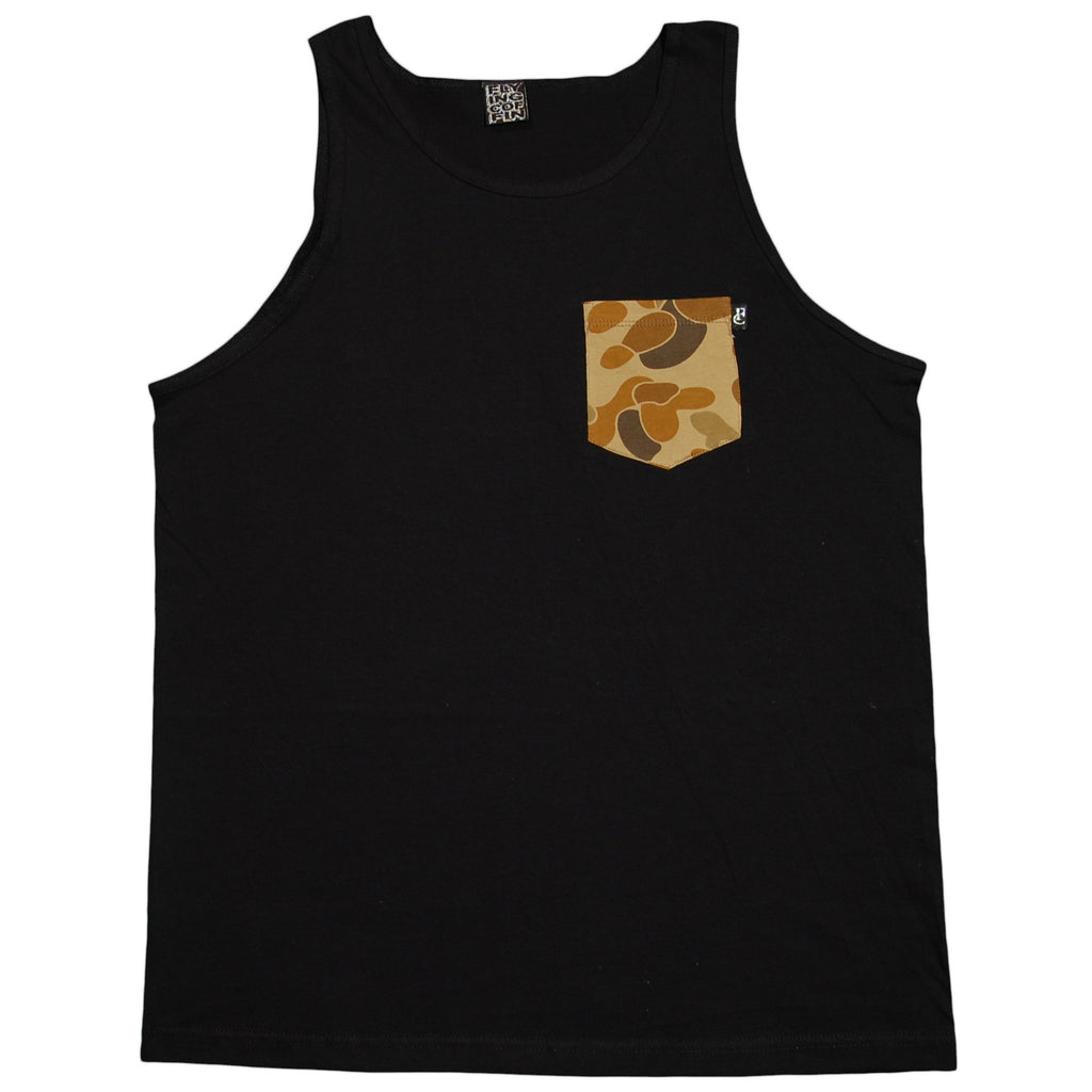 <!--2012072439-->Flying Coffin - 'Camo Pocket' [(Black) Tank Top]