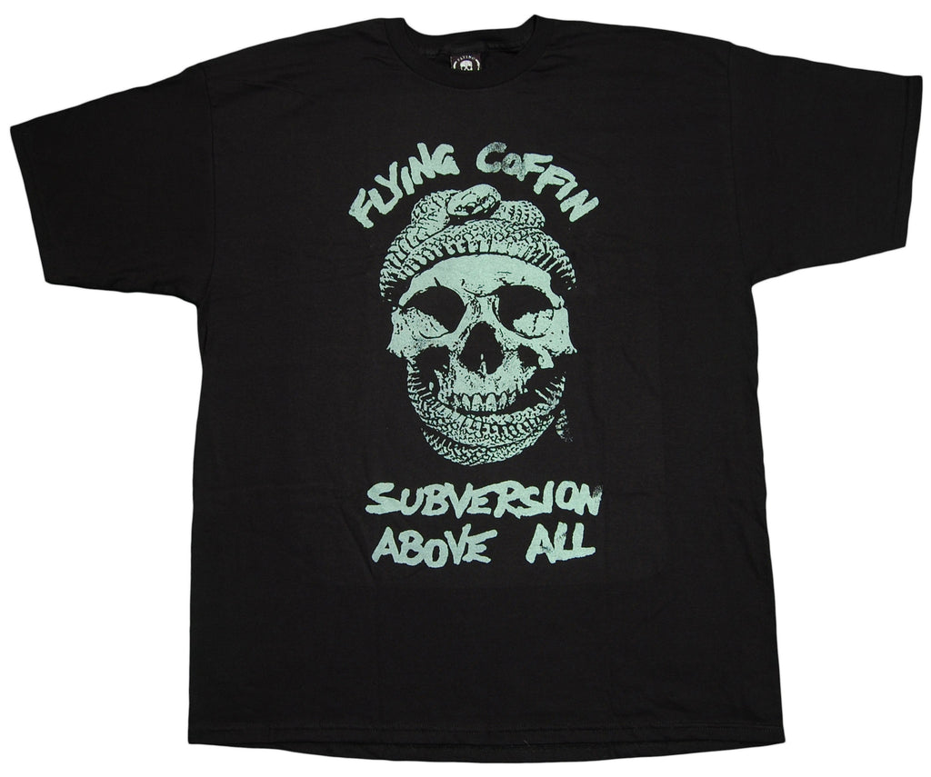 <!--2012072441-->Flying Coffin - 'Subversion - Glow In The Dark' [(Black) T-Shirt]