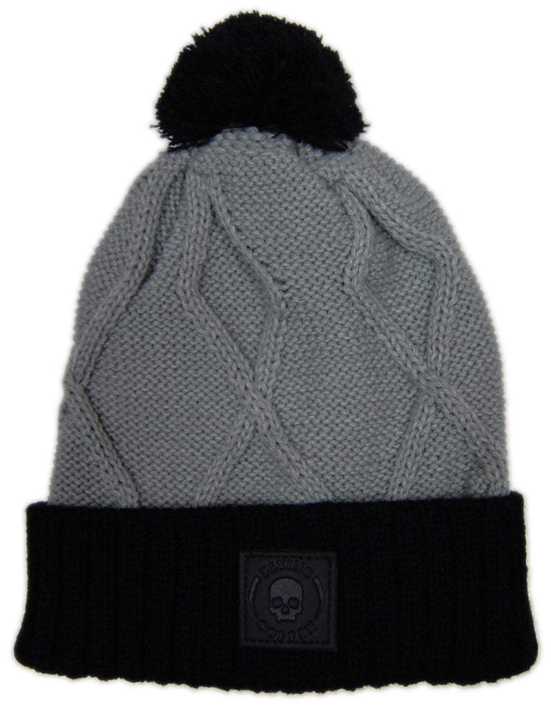 <!--020121120051684-->Flying Coffin - 'Cable Cuff Beanie' [(Light Gray) Winter Beanie Hat]