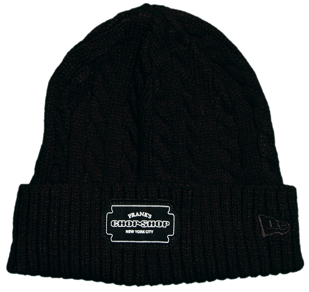 <!--020131022060674-->Frank's Chop Shop - 'Blade Patch Knitted' [(Black) Winter Beanie Hat]