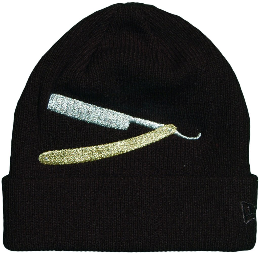 <!--020131022060673-->Frank's Chop Shop - 'OG Razor Cuff' [(Black) Winter Beanie Hat]