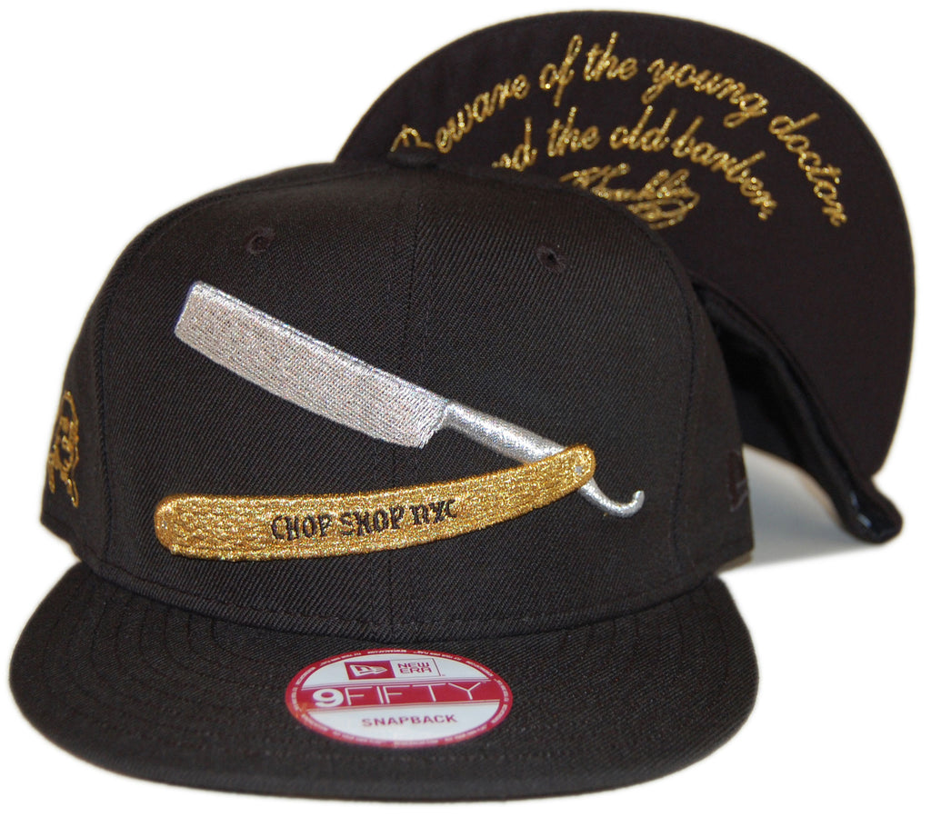 <!--020130618057614-->Frank's Chop Shop - 'Razor - Black/ Gold' [(Black) Snap Back Hat]