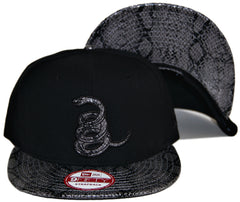 <!--020131022060675-->Frank's Chop Shop - 'Coiled Snake Skin' [(Black) Strap Back Hat]