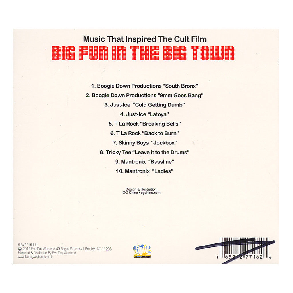<!--120120626045329-->Various Artists - 'Music That Inspired The Cult Film Big Fun In The Big Town: 1986 Hip Hop Classics' [CD]