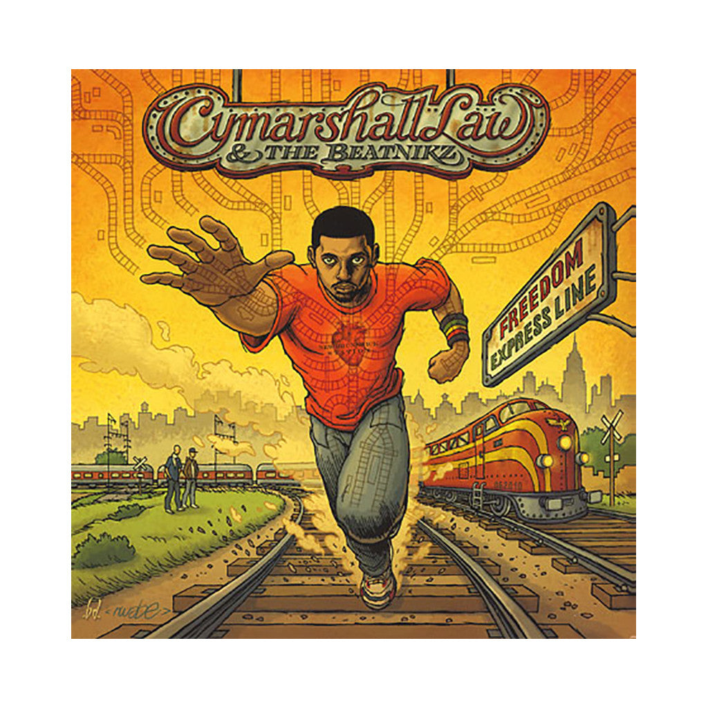 Cymarshall Law & The Beatnikz - 'Freedom Express Line' [(Two Color Splatter) Vinyl LP]