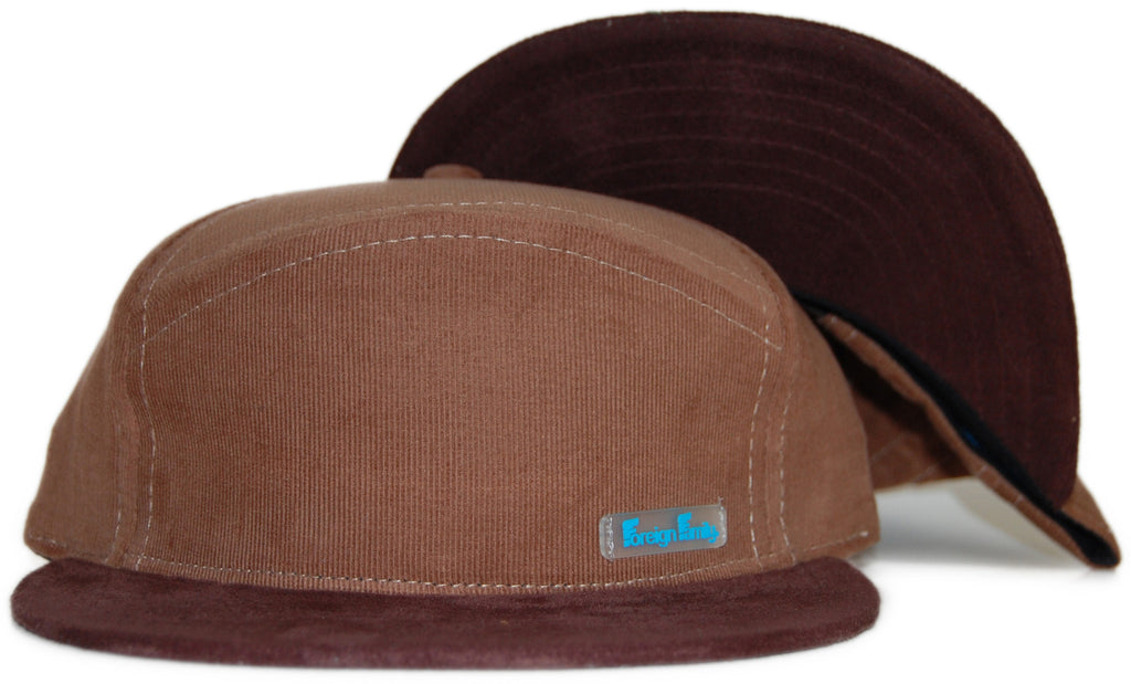 <!--020111101037829-->Foreign Family - '6 Panel Hybrid' [(Brown) Strap Back Hat]
