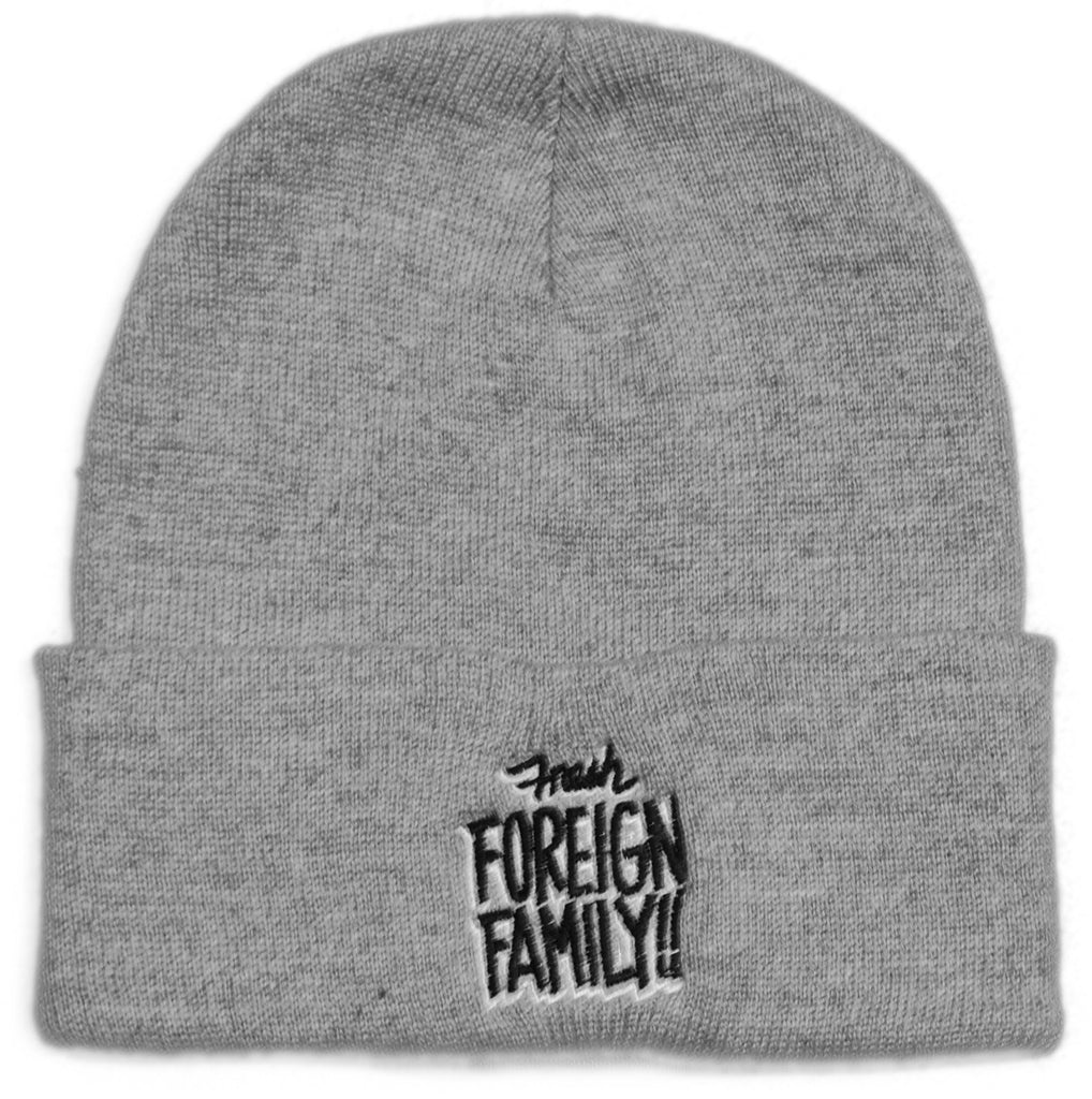 <!--020111101037827-->Foreign Family - 'Embroidered Beanie' [(Gray) Winter Beanie Hat]