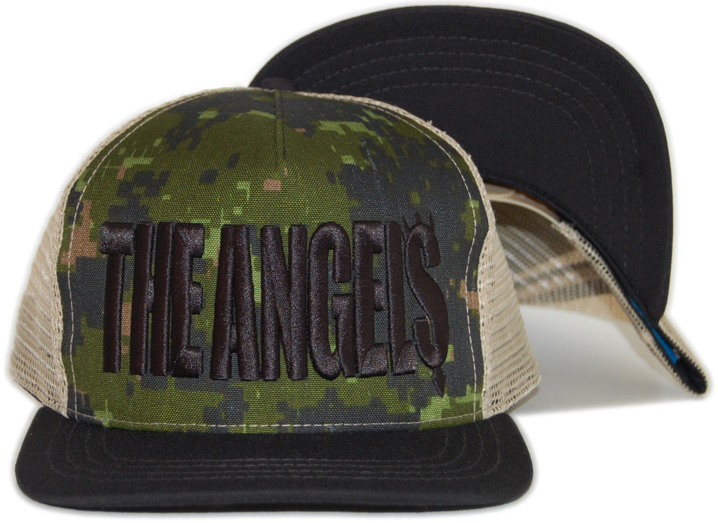 <!--020120501044083-->Foreign Family - 'The Angels - Black/ Tan' [(Camo Pattern) Snap Back Hat]