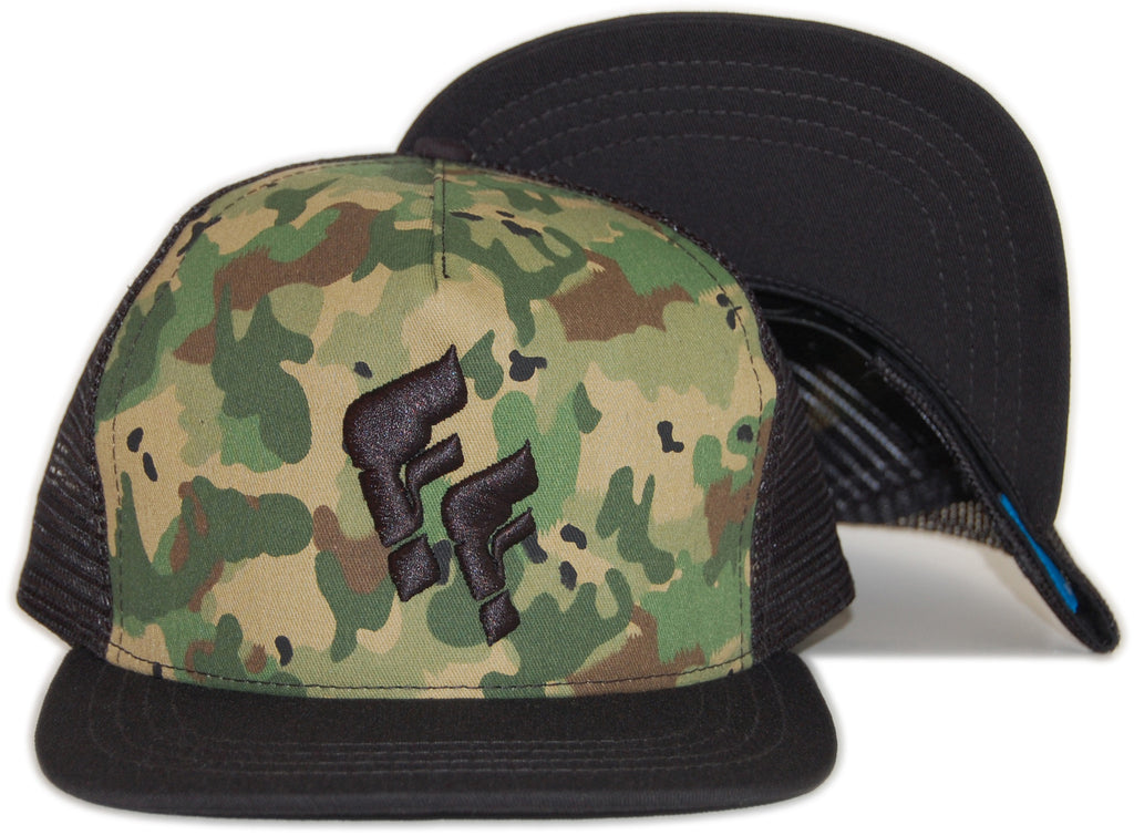 <!--020120501044084-->Foreign Family - 'FF Spots - Camo' [(Black) Snap Back Hat]