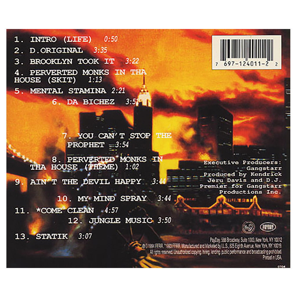 <!--1994052441-->Jeru The Damaja - 'The Sun Rises In The East' [CD]