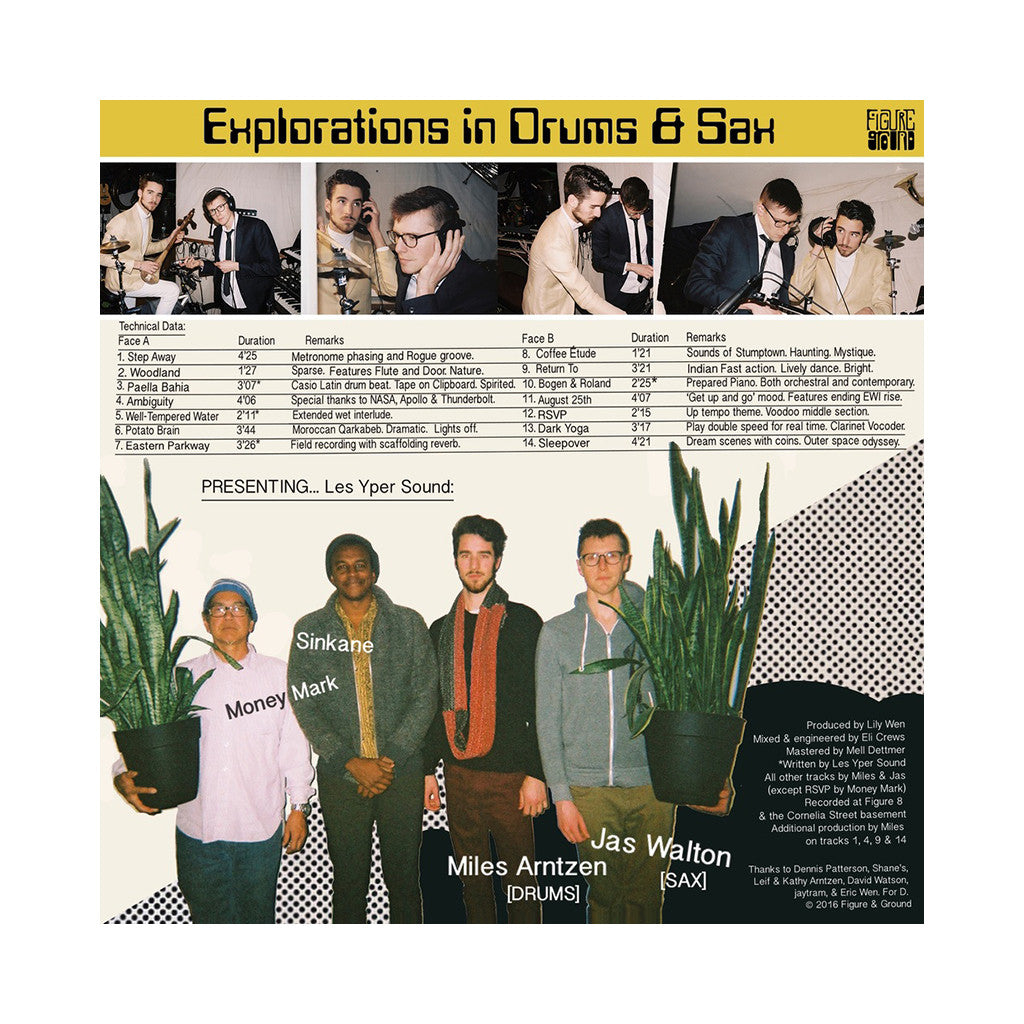 Les Yper Sound - 'Explorations In Drums & Sax' [(Coke Bottle Clear) Vinyl LP]