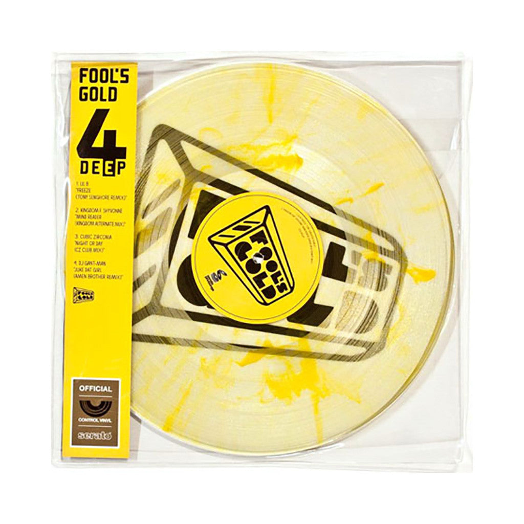 "<!--020111129039248-->Fool's Gold Records x Serato Pressings - '4 Deep' [(Clear Marble Yellow) 12"" Vinyl Control [2x12""]]"