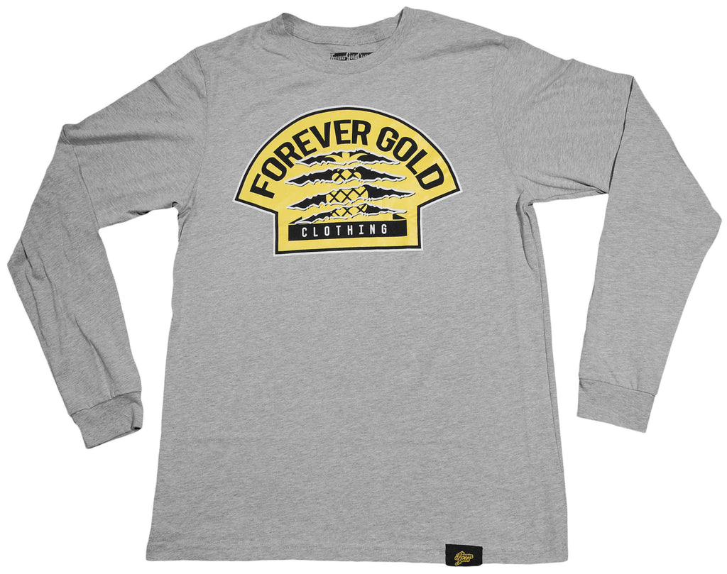 <!--2013032633-->Forever Gold Clothing - 'One Year Anniversary' [(Gray) Long Sleeve Shirt]