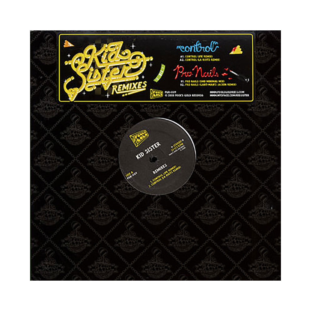 <!--2008122358-->Kid Sister - 'Control (Remixes)/ Pro Nails (Remixes)' [(Black) Vinyl EP]