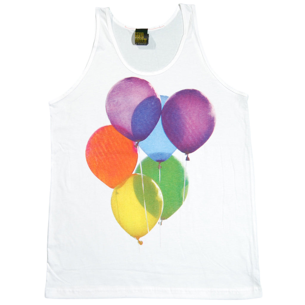 <!--2012081426-->Free Gold Watch - 'Balloons' [(White) Tank Top]