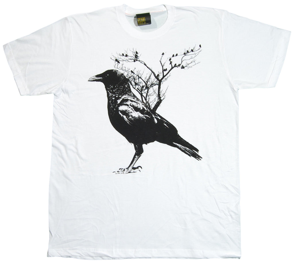 <!--2012081434-->Free Gold Watch - 'Crow' [(White) T-Shirt]
