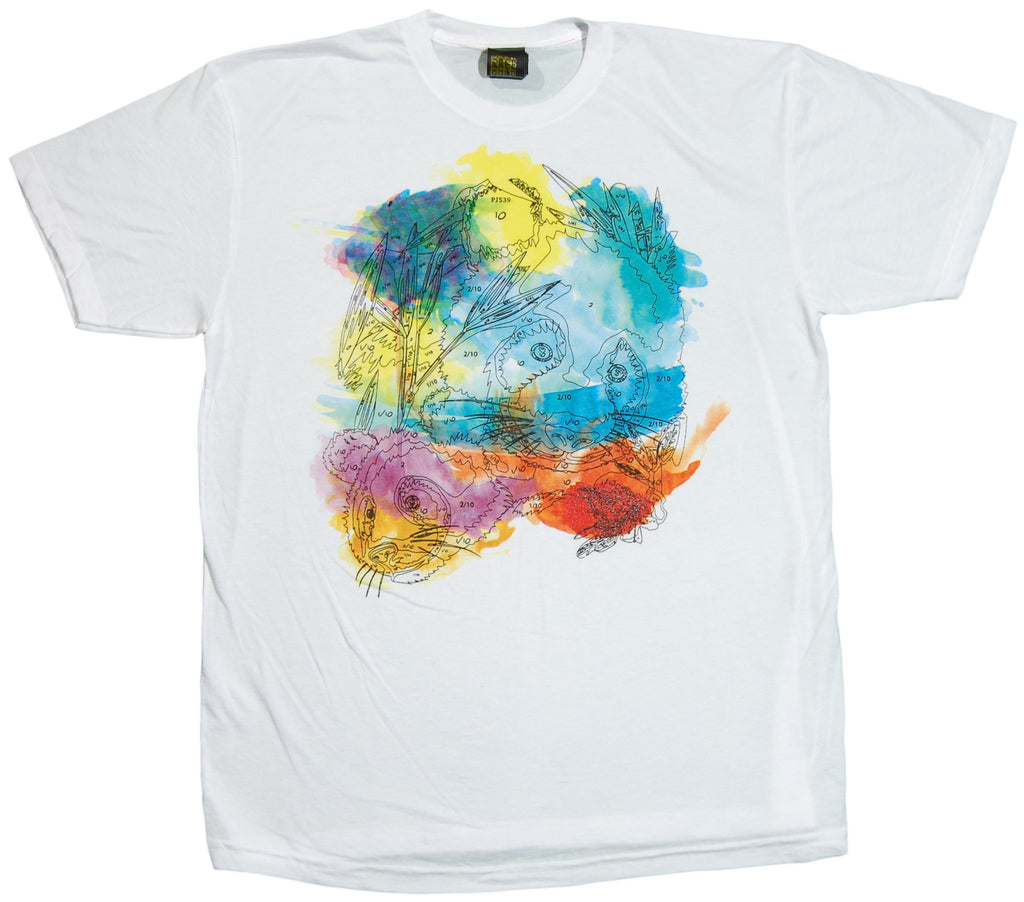 <!--2011112213-->Free Gold Watch - 'Paint By Panda' [(White) T-Shirt]