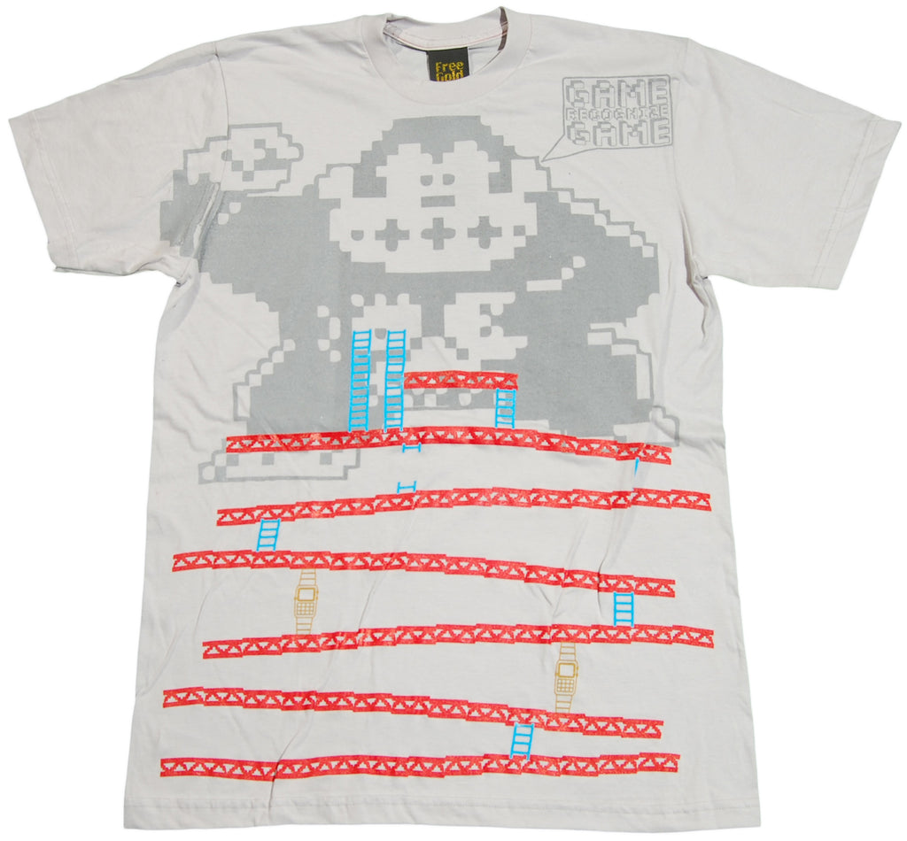<!--2011061419-->Free Gold Watch - 'Donkey Kong' [(Light Gray) T-Shirt]