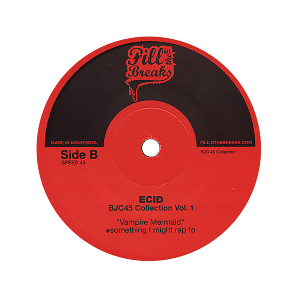 "<!--020110118027326-->Ecid - 'BJC 45 Collection Vol. 1: Emo Funk/ Vampire Mermaid' [(Black) 7"""" Vinyl Single]"