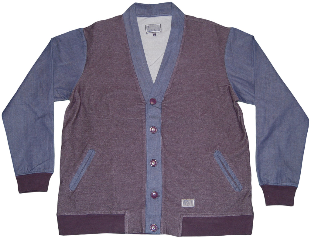 <!--2011101835-->Freshjive - 'Windsolid Cardigan' [(Dark Blue) Jacket]