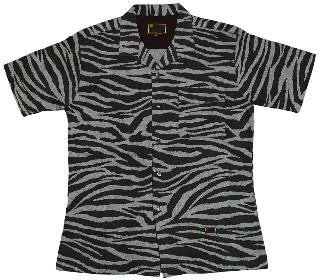 <!--2012022837-->Freshjive - 'Rockers - Zebra' [(Gray) Button Down Shirt]