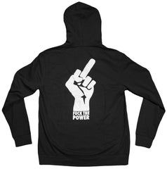 <!--2012092535-->Freshjive: The Lords of Los Angeles Collection - 'Fuck The Power' [(Black) Hooded Sweatshirt]