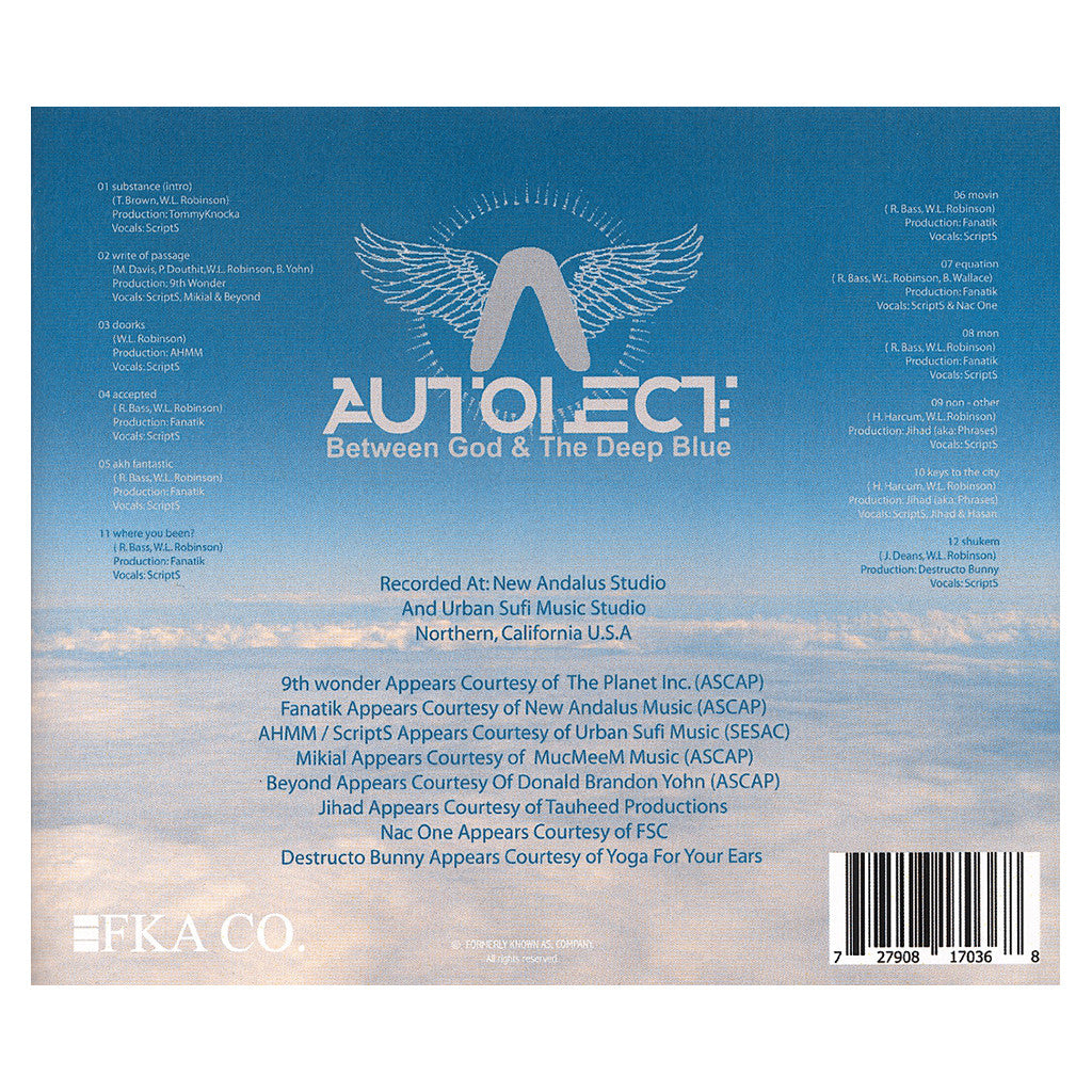 Autolect - 'Between God & The Deep Blue' [CD]