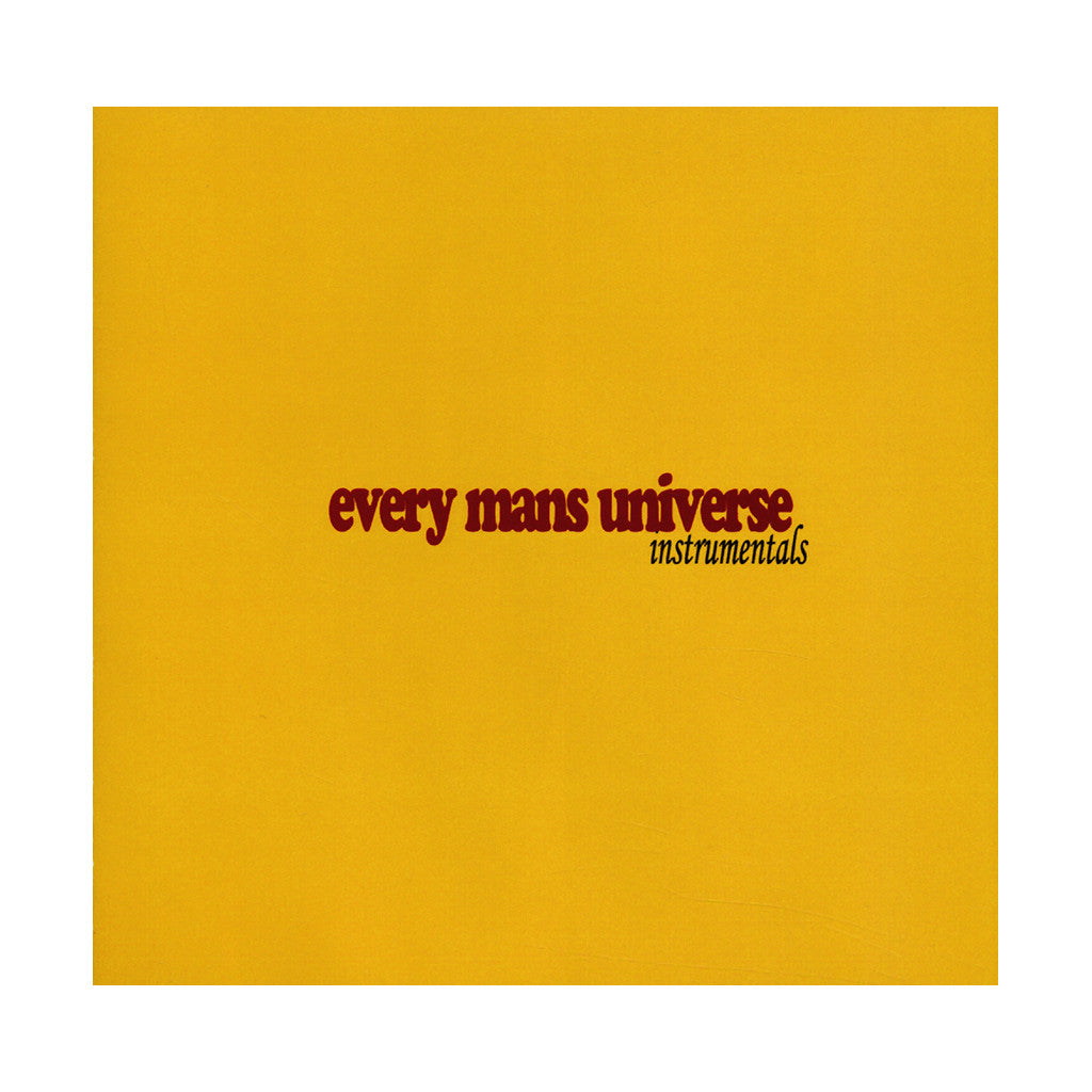 Autolect - 'Every Mans Universe (Instrumentals)' [CD]