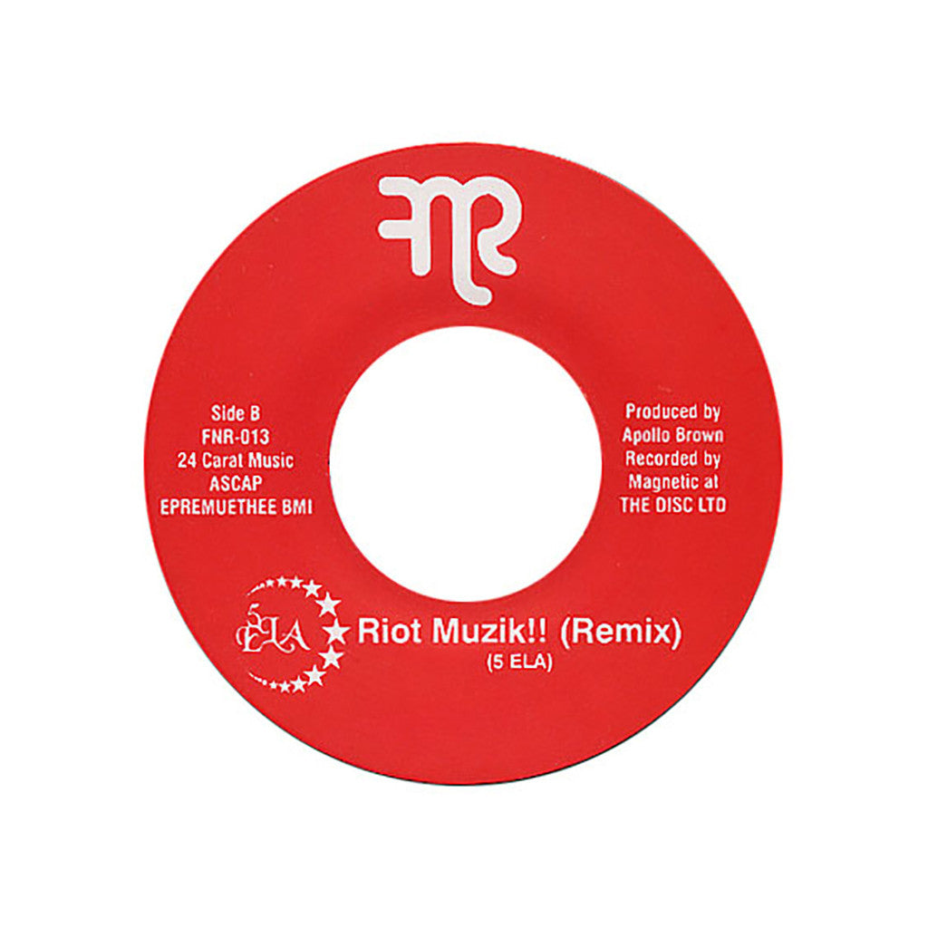 "<!--020110517030802-->5ELA - 'Pipe Bomb/ Riot Muzik!!! (Remix)' [(Black) 7"" Vinyl Single]"