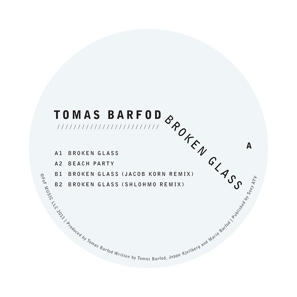 "<!--120120320000650-->Tomas Barfod - 'Broken Glass EP' [(Black) 12"""" Vinyl Single]"